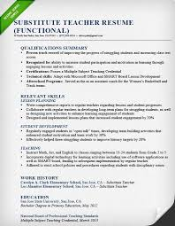teacher resume samples  amp  writing guide   resume geniussubstitute teacher resume sample functional