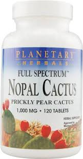 Planetary Herbals <b>Full Spectrum</b>™ <b>Nopal Cactus</b> -- 1000 mg - 120 ...