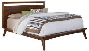 mid century platform bed frame with stunning massive nature wood headboard decoration t beautiful mid century modern danish style teak
