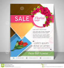 flower shop template or flyer stock illustration image 56316951 brochure flyer and template for florist shop royalty stock photography