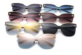 ROYAL GIRL <b>Oversize Rimless Sunglasses Women</b> 2019 Fashion ...