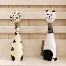 <b>2 Pieces</b>/<b>set</b> Wooden Animal Figurines Home Decor Craft Figurines ...