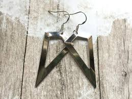 <b>Simple Scandinavian</b> earrings with sterling silver hooks, Selma ...