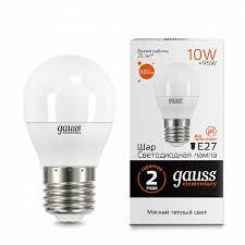 <b>Лампа Gauss</b> LED <b>Elementary</b> Globe 10W E27 3000K 1/10/100 ...