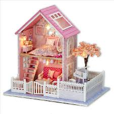 diy miniature doll house include furniture 3d cheap wooden dollhouse furniture