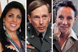 Jill Kelley, David Petraeus and Paula Broadwell. 1 of 7. General David Petraeus with Jill Kelley (left) and Paula Broadwell (right) - pat_comp_1_354999c