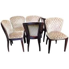 set of six art deco rosewood dining chairs 1 art deco rosewood dining