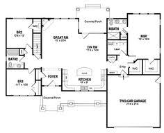 images about House plans on Pinterest   Clayton Homes  Home    Simple Ranch House Floor Plans  Small Craftsman Floor Plan  House Plans Open Floor Layout  Split Floor House Plans  Sq Ft House Plans  Craftsman Ranch