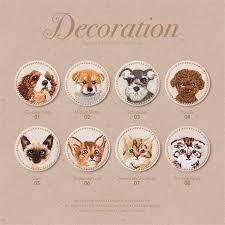 <b>Cute Cat</b> Dog <b>embroidery</b> animal sticker cloth glue applique DIY ...