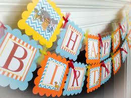 disney lion guard happy birthday banner orange stripes baby 128270zoom