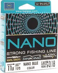 леска balsax nano fishing green 100 м 0 38 мм 17 кг