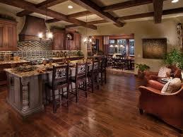 cabin kitchen wood elements
