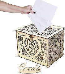 Justdolife Wedding Card Box Set Creative <b>DIY Name</b> Card Holder ...