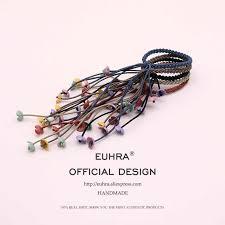 EUHRA 6 Colors Elastic Hair Bands Petal Flower Elasticity Women ...