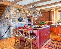 architecture awesome red paint for kitchen combined with stone wall design and wooden floor awesome architecture awesome kitchen design idea red
