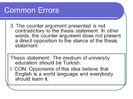 argumentative essay  argumentation the aim of writing    the counter argument presented is not contradictory to the thesis statement