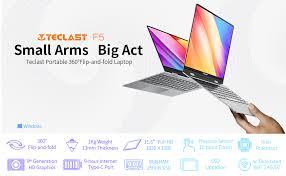 <b>TECLAST F5</b> 2 in 1 Touchscreen <b>Laptop</b>,360° Convertible <b>11.6</b>