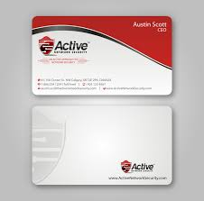business card design for active network security com lancer 97 for business card design for active network security com by imaginativegfx