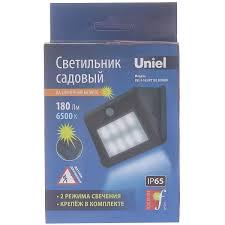 Светильник фасадный с <b>датчиком движения Uniel</b> 163 на ...