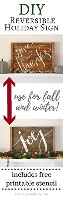 wood sign glass decor wooden kitchen wall: diy this rustic wood holiday sign for your wall or mantel it is reversible so