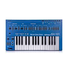 <b>Roland SH</b>-<b>101</b> Blue + MG-1 Mod Grip Serviced Monophonic   Reverb