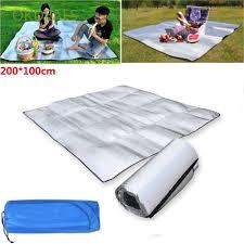 200*100CM Portable Aluminum Foil Sleeping Mat Mattress Moisture ...