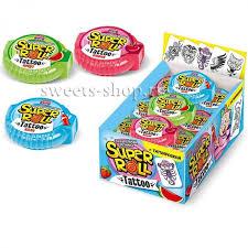 "<b>Жевательная резинка</b> ""<b>SUPER</b> ROLL"" с тату 12гр Candy club ..."