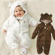 <b>Autumn Winter Baby Rompers</b> Bear style baby coral fleece brand ...