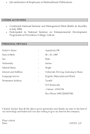 make a resume to tk category curriculum vitae