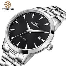 STARKING Original Brand Watch Men <b>Automatic Self</b> wind Stainless ...