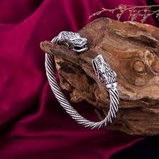 Dawapara Vikings Bracelets Wolf Bracelet <b>Indian</b> Jewelry Wristband ...