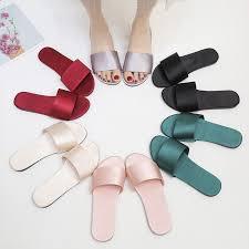 Women Slippers Silk <b>Soft</b> Bottom 2019 <b>Summer</b> Flat Shoes Woman ...