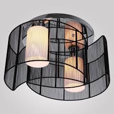 lightinthebox black semi flush mount with 2 lights mini style chandeliers modern ceiling light fixture for hallway dining room living room close to ceiling dining room lights photo 2