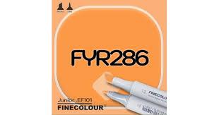 <b>Маркер FINECOLOR Junior FYR286</b> Флуоресцентный оранжевый ...