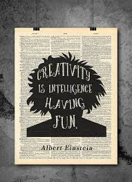 <b>Albert Einstein</b> | Creativity Quote - Vintage Dictionary <b>Wall</b> Art Print ...