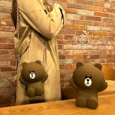 <b>Korean</b> Silicone <b>Cute Cartoon</b> Brown Bear <b>Women</b> Sling Bags ...