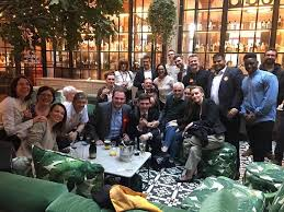 Image result for andy burnham celebrating in the pub + images
