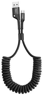кабель передачи данных <b>Baseus Fish</b>-eye Spring Data Cable USB ...