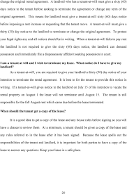 landlord tenant handbook pdf this means the landlord must give a tenant at will sixty 60