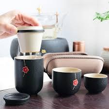 <b>Chinese Travel Kung Fu</b> Tea Set Ceramic Portable Teapot Porcelain ...