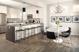 size dining room contemporary counter: pergo flooring dining room contemporary with black pendant lights chandelier counter stools gray