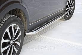 <b>Защита порогов</b> из нержавеющей стали Рено <b>Аркана</b> / <b>Renault</b> ...