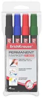 <b>ErichKrause</b> Набор <b>маркеров</b> P-200, 4 шт. (11606) — купить по ...