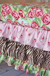 caden lane funky rose bumper less crib bedding baby furniture for less