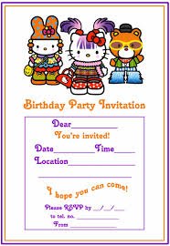 hello kitty coloring pages hello kitty harajuku party invitations and thank you card