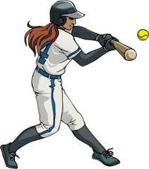 Image result for girls softball clipart