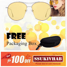 Plated <b>Square Sunglasses</b> Glass Yellow fashiontrend COD gifts ...