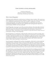 biographical essay example writing a biographical essay personal profile essay examples  writing a biographical essay