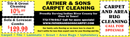 father and sons carpet cleaning discounts on carpet cleaning father and sons carpet cleaning home garden ads from tcpalm