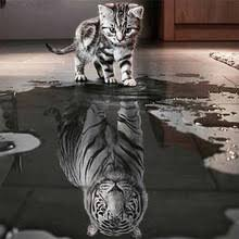 Кошка и тигр DIY <b>5d diamond Вышивка картина</b> вышивки крестом ...
